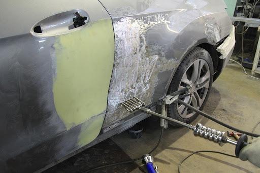 фото ремонт автомобильного крыла в кирове