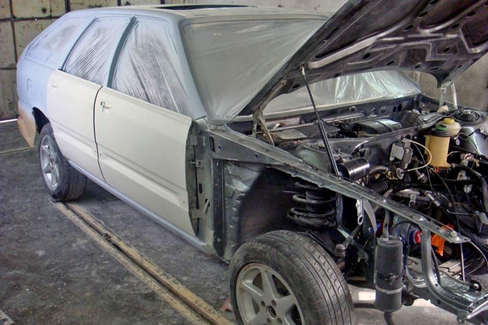 фото кузовной ремонт ауди