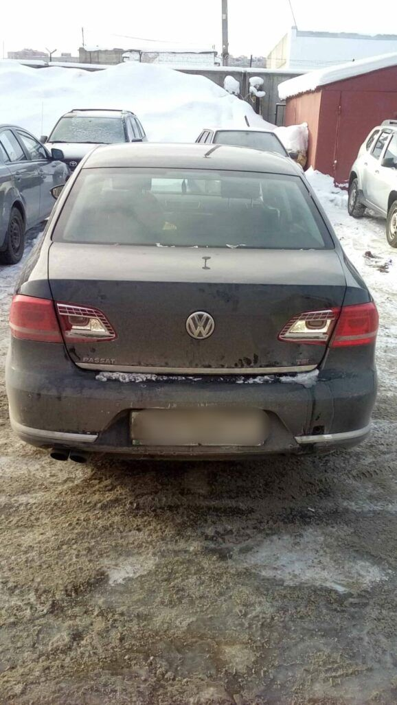 Volkswagen удаление вмятины фото до