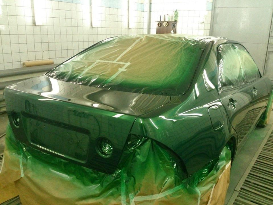 Lexus IS на покраске