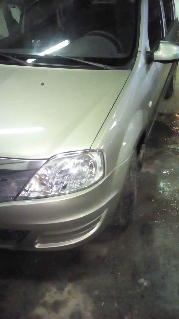 Renault после покраски переднего бампера фото