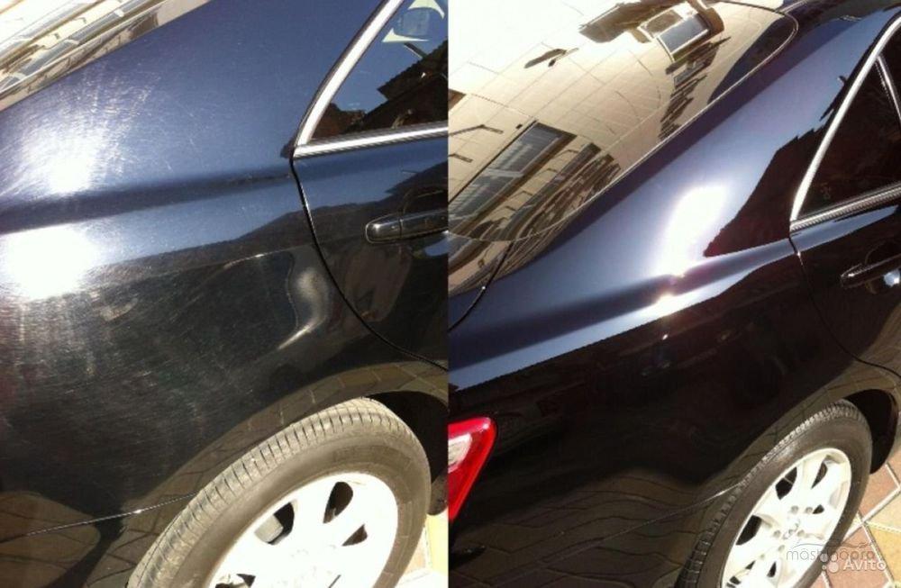 фото результат полировки авто до и после