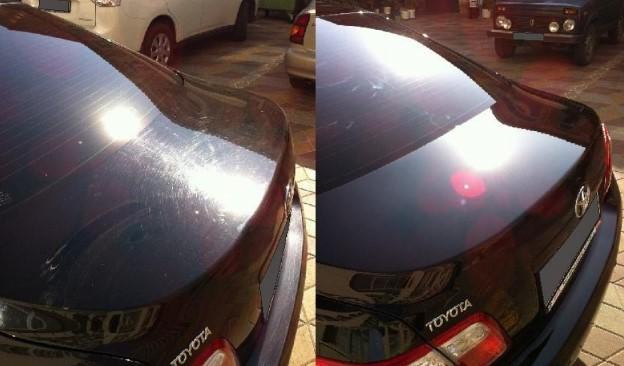 фото машины до и после полировки кузова