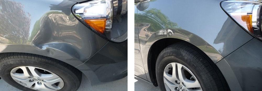 фото до и после ремонта вмятин