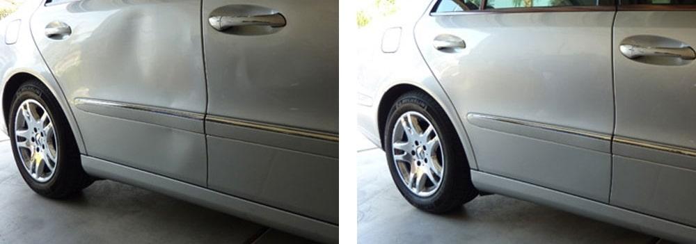 фото до и после ремонта вмятин в кирове
